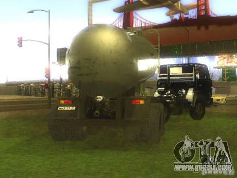 Trailer Cement TC-12 for GTA San Andreas left view