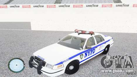 Ford Crown Victoria 2003 NYPD for GTA 4 left view