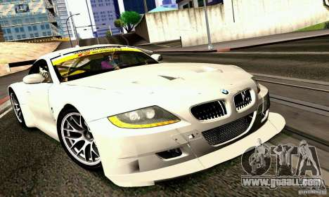 BMW Z4 E85 M GT 2008 V1.0 for GTA San Andreas back left view