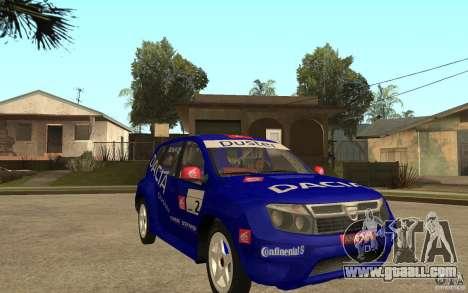 Dacia Duster Rally for GTA San Andreas back view