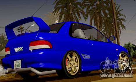 Subaru Impreza WRX GC8 InitialD for GTA San Andreas back view