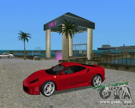 Ferrari F430 for GTA Vice City right view
