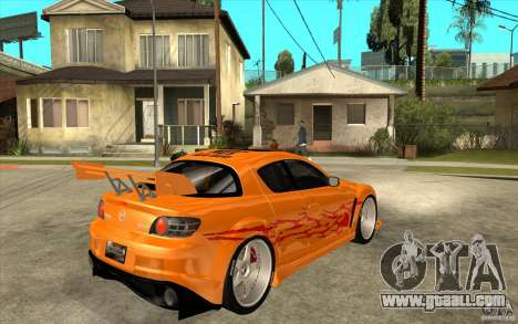 Mazda RX8 Underground Tuning for GTA San Andreas right view