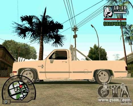 Chevrolet Silverado 1985 for GTA San Andreas left view