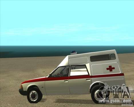 AZLK 2901 ambulance for GTA San Andreas back left view