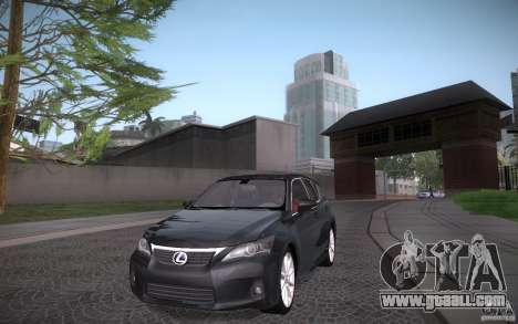 Lexus CT200H 2011 for GTA San Andreas back view