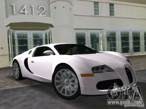 Bugatti Veyron EB 16.4 for GTA Vice City