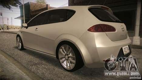 Seat Leon Cupra for GTA San Andreas side view
