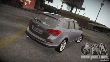 Opel Astra 2010 for GTA San Andreas back left view