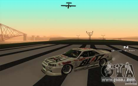 Nissan Skyline ER34 D1GP Blitz for GTA San Andreas back left view