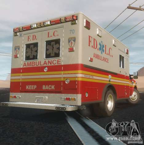 Ford F350 FDLC Ambulance v3.0 ELS for GTA 4 back view