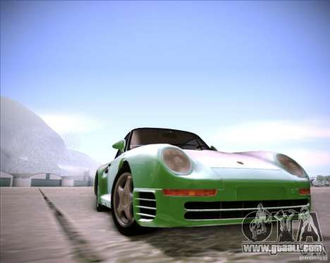 Porsche 959 1987 for GTA San Andreas back left view