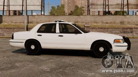 Ford Crown Victoria Unmarked ELS for GTA 4 left view