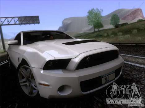 Ford Shelby Mustang GT500 2010 for GTA San Andreas back left view