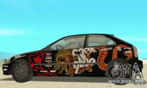Honda-Superpromotion for GTA San Andreas back left view