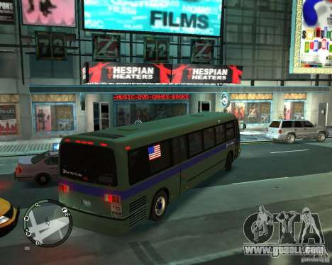 MTA NYC bus for GTA 4 back left view