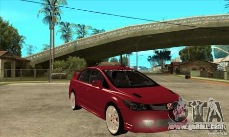 Honda Civic Mugen RR for GTA San Andreas back view