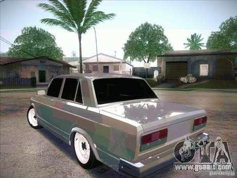 VAZ 2107 Criminal for GTA San Andreas left view