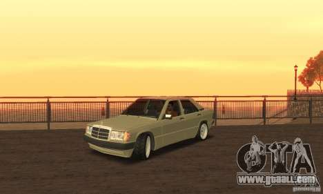 Mercedes-Benz 190E for GTA San Andreas back left view
