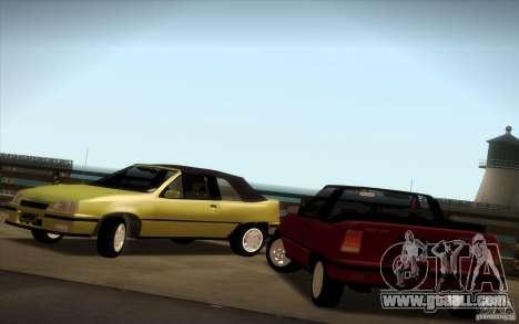 Chevrolet Kadett GSI Cabrio for GTA San Andreas right view