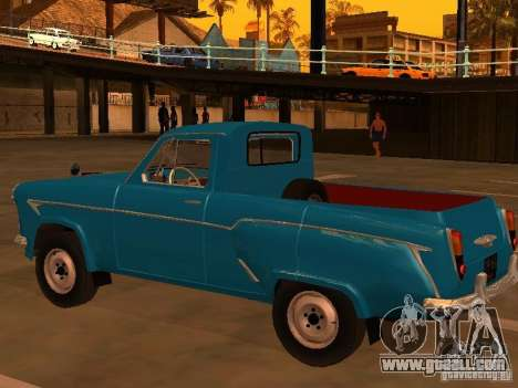 Moskvitch 407 Pickup for GTA San Andreas back left view