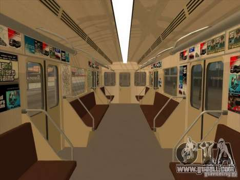 Tube type 81-717 for GTA San Andreas inner view