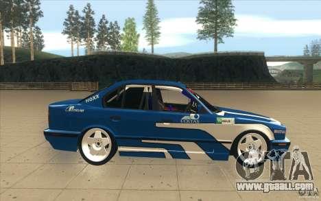 BMW E34 V8 for GTA San Andreas inner view