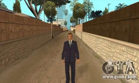 Dmitry Anatolyevich Medvedev for GTA San Andreas second screenshot