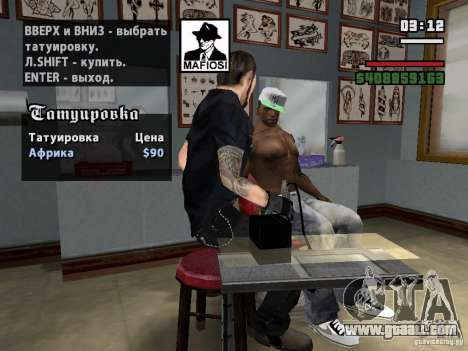 New Tattoos for GTA San Andreas third screenshot