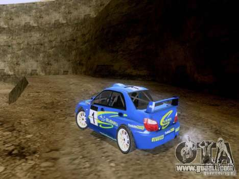 Subaru Impreza WRC 2003 for GTA San Andreas back left view