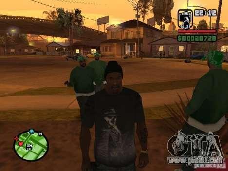 Watchmen Rorschach Shirt for GTA San Andreas third screenshot