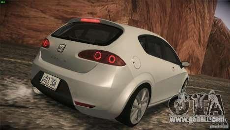 Seat Leon Cupra for GTA San Andreas back view