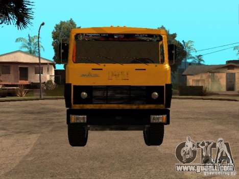 MAZ 54323 GARBAGE TRUCK for GTA San Andreas back left view