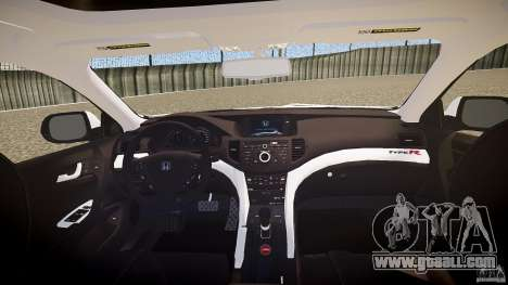 Honda Accord Type R NYPD (City Patrol 7605) ELS for GTA 4 upper view