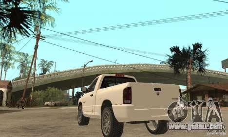 Dodge Ram SRT 10 for GTA San Andreas back left view