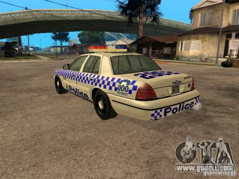 Ford Crown Victoria NSW Police for GTA San Andreas left view