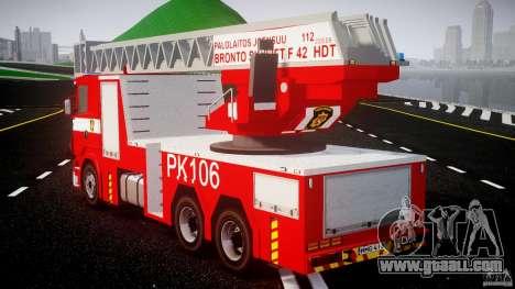 Scania R580 Fire ladder PK106 for GTA 4 back left view