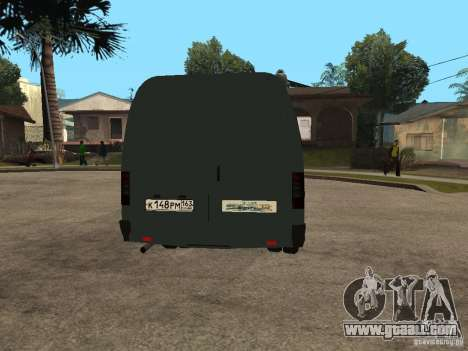 Gazelle 2705 Business for GTA San Andreas back view