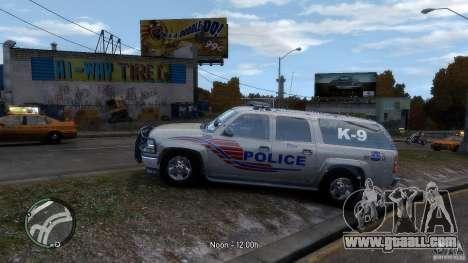 Chevrolet Suburban 2006 Police K9 UNIT for GTA 4 left view