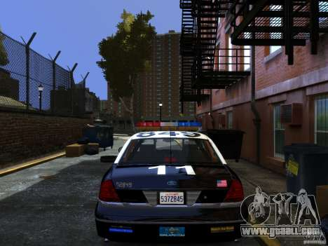 Ford Crown Victoria LAPD v1.1 [ELS] for GTA 4 left view