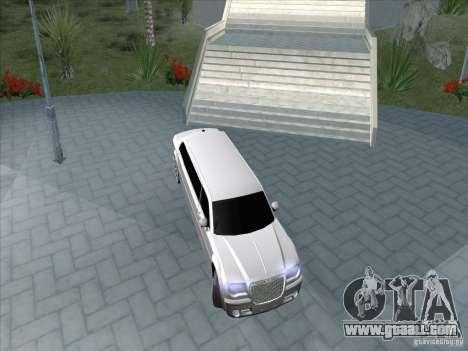 Chrysler 300C Limo for GTA San Andreas back view