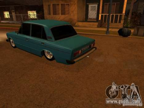 VAZ 2106 Hobo for GTA San Andreas inner view