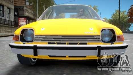 AMC Pacer 1977 v1.0 for GTA 4 side view