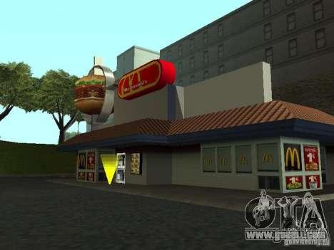 Mc Donalds for GTA San Andreas forth screenshot