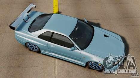 Nissan Skyline GT-R (BNR34) 2002 for GTA 4 right view
