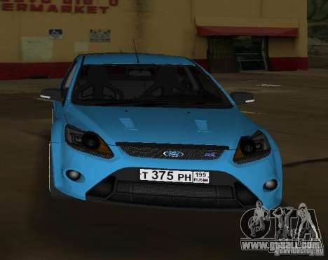 Ford Focus RS 2009 for GTA Vice City right view