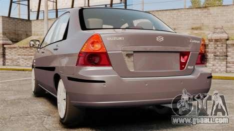 Suzuki Liana GLX 2002 for GTA 4 back left view