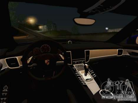 Porsche Panamera Turbo 2010 for GTA San Andreas interior
