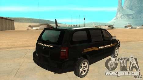 Dodge Caravan Sheriff 2008 for GTA San Andreas right view