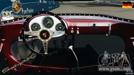 Porsche 550 A Spyder 1956 v1.0 for GTA 4 back view